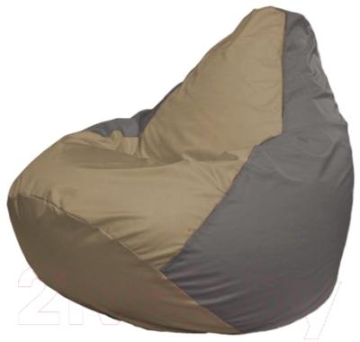 Бескаркасное кресло Flagman Груша Мини Г0.1-86 (темно-бежевый/серый)