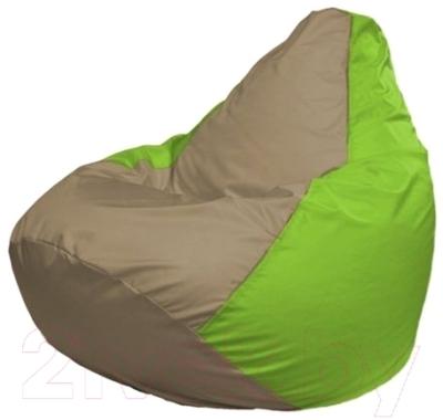 Бескаркасное кресло Flagman Груша Мини Г0.1-88 (темно-бежевый/салатовый)