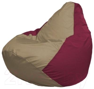 Бескаркасное кресло Flagman Груша Мини Г0.1-97 (темно-бежевый/бордовый)