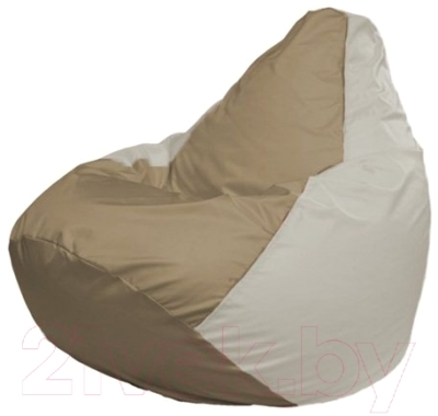 Бескаркасное кресло Flagman Груша Мини Г0.1-99 (темно-бежевый/белый)