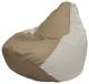 Бескаркасное кресло Flagman Груша Мини Г0.1-99 (темно-бежевый/белый) -
