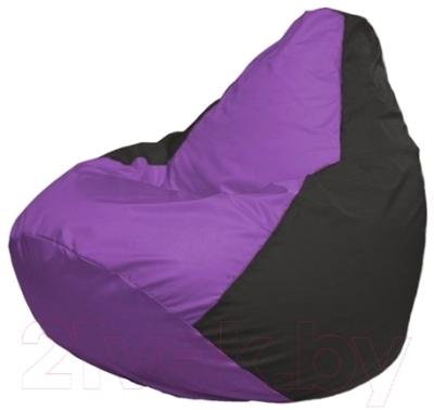 Бескаркасное кресло Flagman Груша Мини Г0.1-101 (сиреневый/черный)
