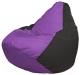 Бескаркасное кресло Flagman Груша Мини Г0.1-101 (сиреневый/черный) -