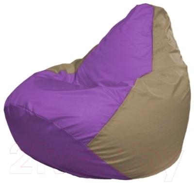 Бескаркасное кресло Flagman Груша Мини Г0.1-104 (сиреневый/темно-бежевый)