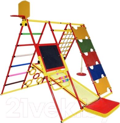 Детский спортивный комплекс Формула здоровья Вершинка-W Плюс (красный/радуга)