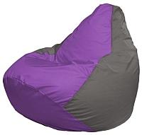 Бескаркасное кресло Flagman Груша Мини Г0.1-106 (сиреневый/серый) -