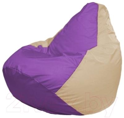 Бескаркасное кресло Flagman Груша Мини Г0.1-107 (сиреневый/светло-бежевый)