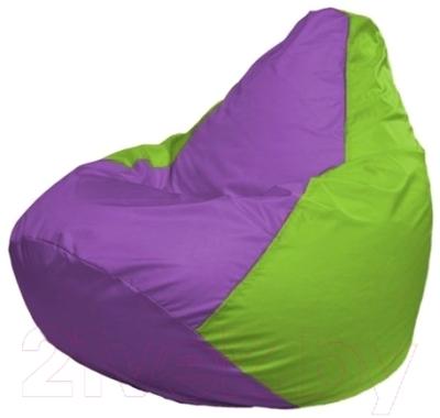 Бескаркасное кресло Flagman Груша Мини Г0.1-108 (сиреневый/салатовый)