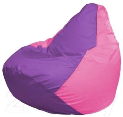 Бескаркасное кресло Flagman Груша Мини Г0.1-109 (сиреневый/розовый)