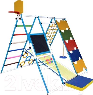 Детский спортивный комплекс Формула здоровья Вершинка-W Плюс (голубой/радуга)