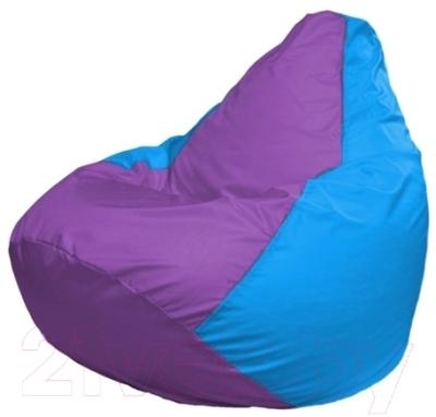 Бескаркасное кресло Flagman Груша Мини Г0.1-111 (сиреневый/голубой)