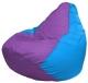 Бескаркасное кресло Flagman Груша Мини Г0.1-111 (сиреневый/голубой) -