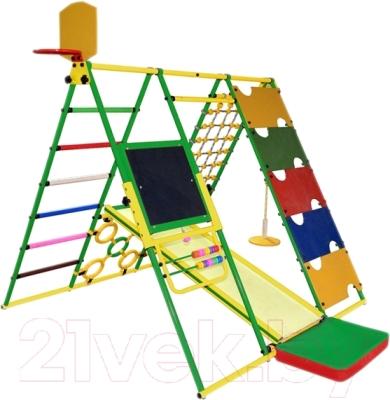 Детский спортивный комплекс Формула здоровья Вершинка-W Плюс (зеленый/радуга)