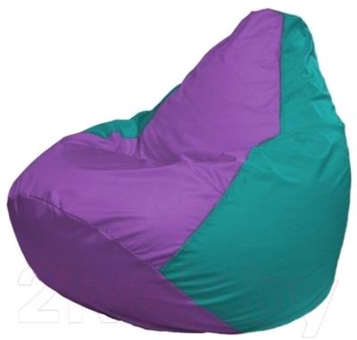 Бескаркасное кресло Flagman Груша Мини Г0.1-112 (сиреневый/бирюзовый)