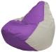 Бескаркасное кресло Flagman Груша Мини Г0.1-113 (сиреневый/белый) -