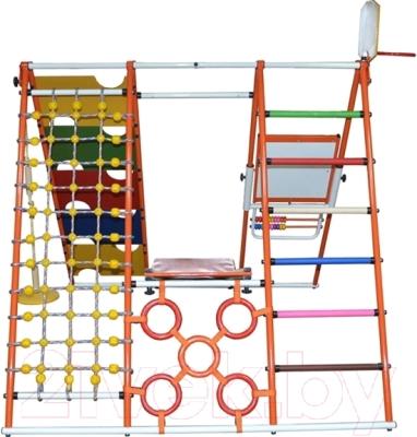 Детский спортивный комплекс Формула здоровья Вершинка-W Плюс (оранжевый/радуга)