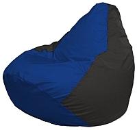 Бескаркасное кресло Flagman Груша Мини Г0.1-115 (синий/черный) -