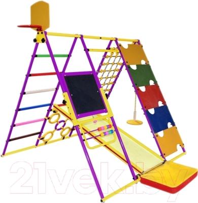 Детский спортивный комплекс Формула здоровья Вершинка-W Плюс (фиолетовый/радуга)