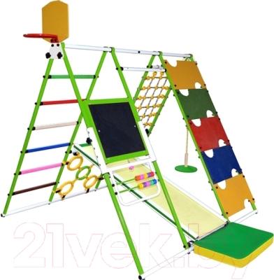 Детский спортивный комплекс Формула здоровья Вершинка-W Плюс (салатовый/радуга)