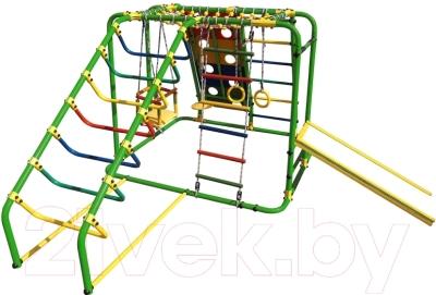 Детский спортивный комплекс Формула здоровья Артек-N Плюс (зеленый/радуга)