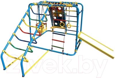 Детский спортивный комплекс Формула здоровья Артек-N Плюс  (голубой/радуга)