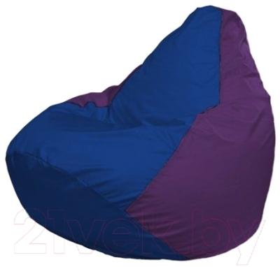 Бескаркасное кресло Flagman Груша Мини Г0.1-117 (синий/фиолетовый)