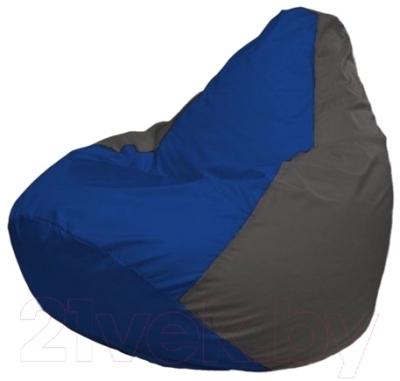 Бескаркасное кресло Flagman Груша Мини Г0.1-118 (синий/темно-серый)