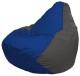 Бескаркасное кресло Flagman Груша Мини Г0.1-118 (синий/темно-серый) -