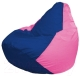 Бескаркасное кресло Flagman Груша Мини Г0.1-120 (синий/розовый) -