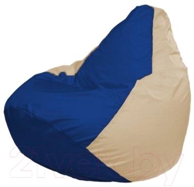 Бескаркасное кресло Flagman Груша Мини Г0.1-121 (синий/светло-бежевый)