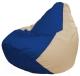 Бескаркасное кресло Flagman Груша Мини Г0.1-121 (синий/светло-бежевый) -