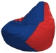 Бескаркасное кресло Flagman Груша Мини Г0.1-122 (синий/красный) -