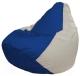 Бескаркасное кресло Flagman Груша Мини Г0.1-125 (синий/белый) -