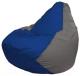 Бескаркасное кресло Flagman Груша Мини Г0.1-126 (синий/серый) -