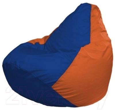Бескаркасное кресло Flagman Груша Мини Г0.1-127 (синий/оранжевый)