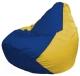 Бескаркасное кресло Flagman Груша Мини Г0.1-128 (синий/желтый) -