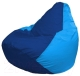 Бескаркасное кресло Flagman Груша Мини Г0.1-129 (синий/голубой) -