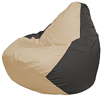 Бескаркасное кресло Flagman Груша Мини Г0.1-134 (светло-бежевый/темно-серый) -