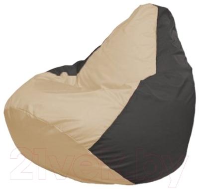 Бескаркасное кресло Flagman Груша Мини Г0.1-134 (светло-бежевый/темно-серый)