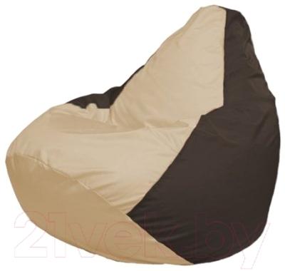 Бескаркасное кресло Flagman Груша Мини Г0.1-146 (светло-бежевый/коричневый)
