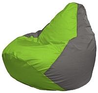 Бескаркасное кресло Flagman Груша Мини Г0.1-160 (салатовый/серый) -