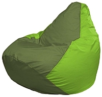 Бескаркасное кресло Flagman Груша Мини Г0.1-161 (оливковый/салатовый) -