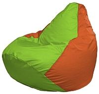 Бескаркасное кресло Flagman Груша Мини Г0.1-163 (салатовый/оранжевый) -