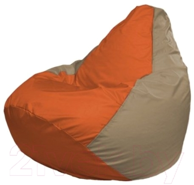 Бескаркасное кресло Flagman Груша Макси Г2.1-30 (оранжевый/темно-бежевый)