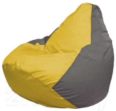 Бескаркасное кресло Flagman Груша Макси Г2.1-34 (желтый/серый)