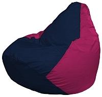 Бескаркасное кресло Flagman Груша Макси Г2.1-37 (темно-синий/фуксия) -