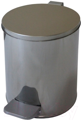 Мусорное ведро Титан Мета 7л (хром)