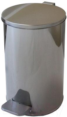Мусорное ведро Титан Мета 10л (хром)
