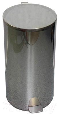Мусорное ведро Титан Мета 30л (хром)