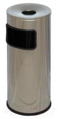 Мусорное ведро Титан Мета К250НН (хром)